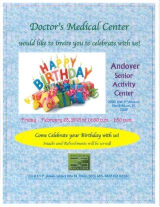 Birthday Party! @ Andover Senior Activity Center   Miami   Florida   United States